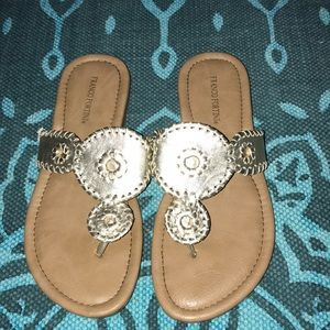 FRANCO FORTINI gold sandals